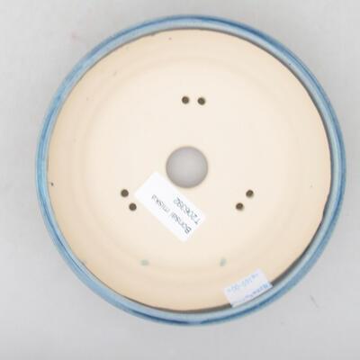 Ceramiczna miska bonsai 15 x 15 x 4,5 cm, kolor niebieski - 3