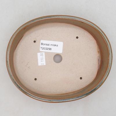 Ceramiczna miska bonsai 17 x 14 x 4 cm, kolor szaro-rdzawy - 3