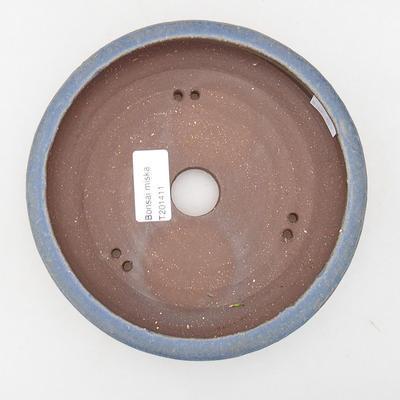 Ceramiczna miska bonsai 16,5 x 16,5 x 4,5 cm, kolor niebieski - 3