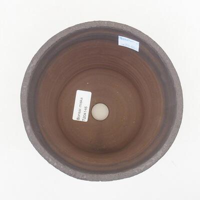 Ceramiczna miska bonsai 15,5 x 15,5 x 13 cm, kolor czarny - 3