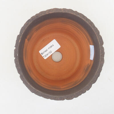 Ceramiczna miska bonsai 13 x 13 x 10,5 cm, kolor szary - 3