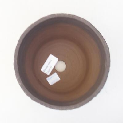 Ceramiczna miska bonsai 14,5 x 14,5 x 12,5 cm, kolor czarny - 3