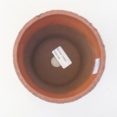 Ceramiczna miska bonsai 12,5 x 12,5 x 13 cm, kolor czarny - 3