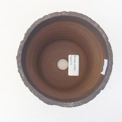 Ceramiczna miska bonsai 13 x 13 x 13 cm, kolor szary - 3