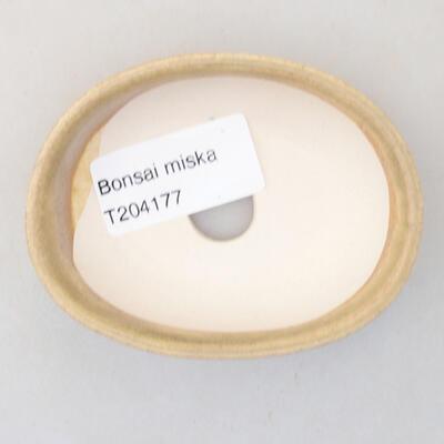 Mini miska bonsai 8 x 6 x 2,5 cm, kolor beżowy - 3