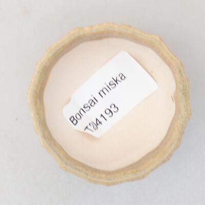 Mini miska bonsai 5 x 5 x 3 cm, kolor beżowy - 3