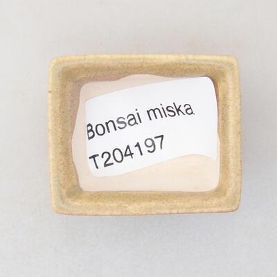 Mini miska bonsai 4 x 3 x 2 cm, kolor beżowy - 3