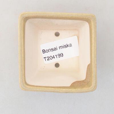 Mini miska bonsai 6 x 6 x 4,5 cm, kolor beżowy - 3