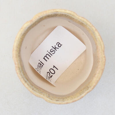 Mini miska bonsai 3,5 x 3,5 x 4 cm, kolor beżowy - 3