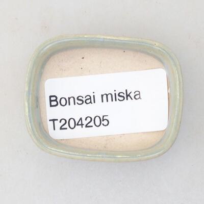 Mini miska bonsai 4,5 x 3,5 x 1,5 cm, kolor niebieski - 3