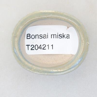 Mini miska bonsai 4 x 3,5 x 1,5 cm, kolor niebieski - 3