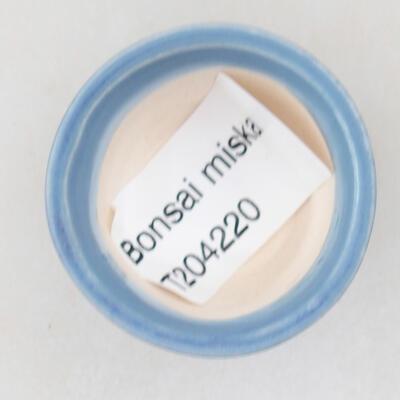 Mini miska bonsai 3,5 x 3,5 x 2 cm, kolor niebieski - 3