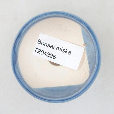 Mini miska bonsai 6 x 6 x 2,5 cm, kolor niebieski - 3