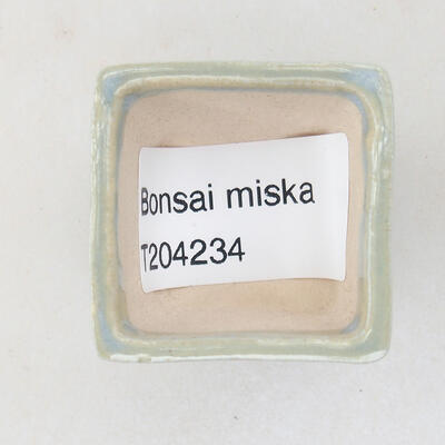 Mini miska bonsai 3 x 3 x 2,5 cm, kolor niebieski - 3