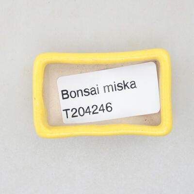 Mini miska bonsai 4,5 x 2,5 x 1,5 cm, kolor żółty - 3