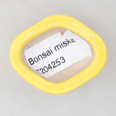Mini miska bonsai 4 x 3,5 x 2,5 cm, kolor żółty - 3