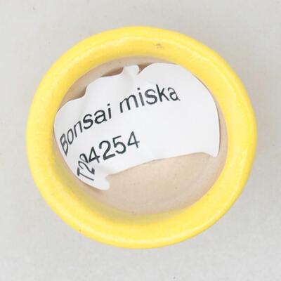 Mini miska bonsai 3 x 3 x 2 cm, kolor żółty - 3