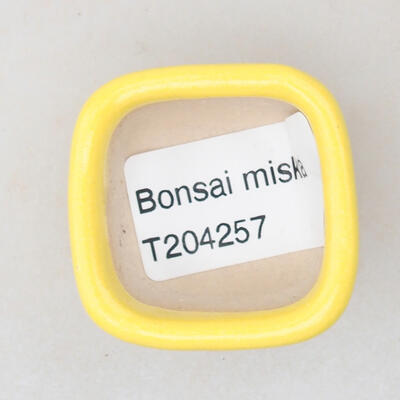 Mini miska bonsai 3,5 x 3,5 x 2,5 cm, kolor żółty - 3