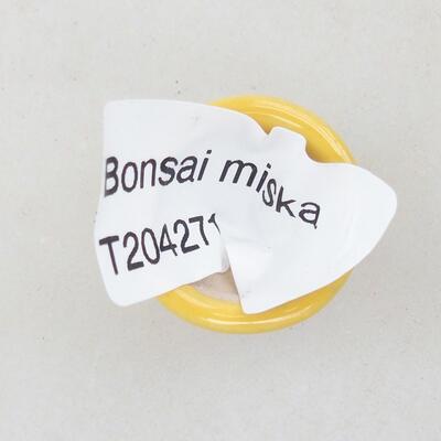Mini miska bonsai 2 x 2 x 1,5 cm, kolor żółty - 3