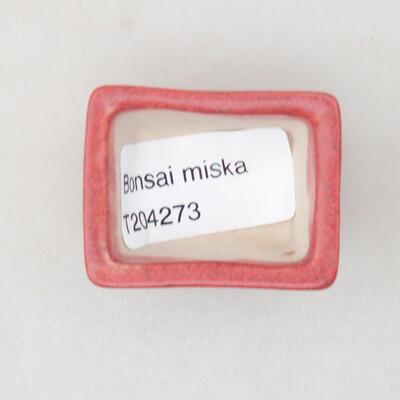 Mini miska bonsai 4 x 3 x 2,5 cm, kolor czerwony - 3