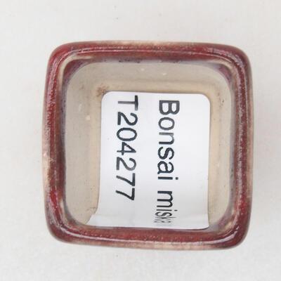 Mini miska bonsai 3 x 3 x 3 cm, kolor czerwony - 3