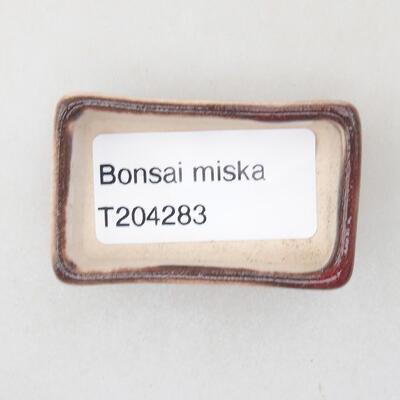 Mini miska bonsai 4,5 x 3 x 1,5 cm, kolor czerwony - 3