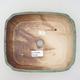 Ceramiczna miska bonsai 20,5 x 17,5 x 6 cm, kolor brązowo-zielony - 3/3