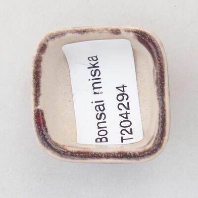Mini miska bonsai 3,5 x 3,5 x 2,5 cm, kolor czerwony - 3