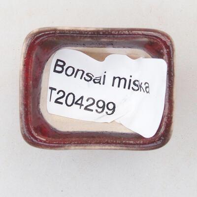 Mini miska bonsai 3 x 2,5 x 2 cm, kolor czerwony - 3