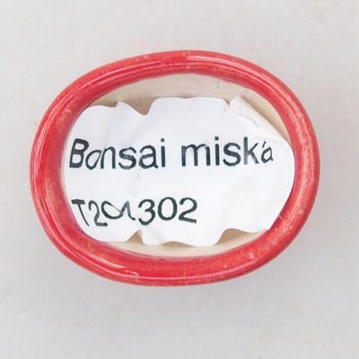 Mini miska bonsai 3 x 2,5 x 1,5 cm, kolor czerwony - 3