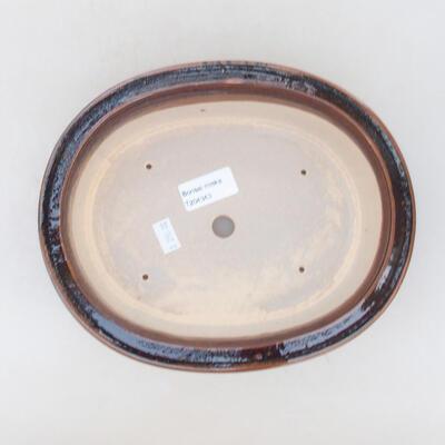 Ceramiczna miska bonsai 22 x 18 x 7,5 cm, kolor brązowy - 3