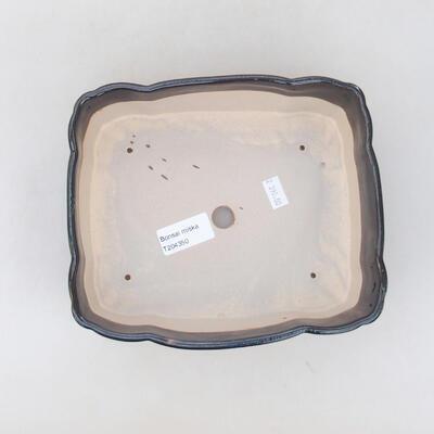 Ceramiczna miska bonsai 19,5 x 16,5 x 7 cm, kolor czarny - 3