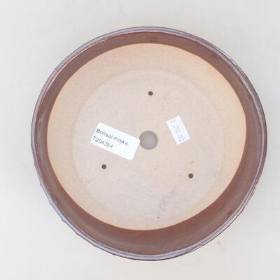 Ceramiczna miska bonsai 17,5 x 17,5 x 5 cm, kolor brązowy - 3