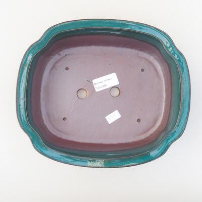 Ceramiczna miska bonsai 23 x 20 x 7 cm, kolor zielony - 3