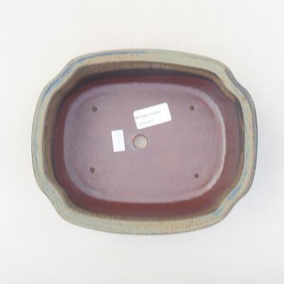 Ceramiczna miska bonsai 20,5 x 16,5 x 7 cm, kolor szary - 3