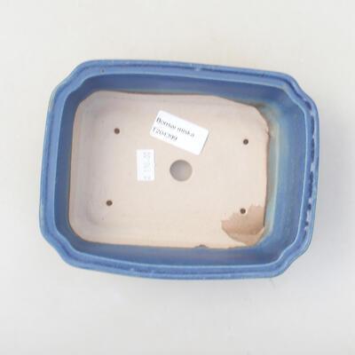 Ceramiczna miska bonsai 17 x 13,5 x 4,5 cm, kolor niebieski - 3