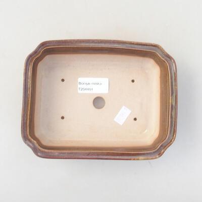 Ceramiczna miska bonsai 17 x 13,5 x 4,5 cm, kolor brązowy - 3