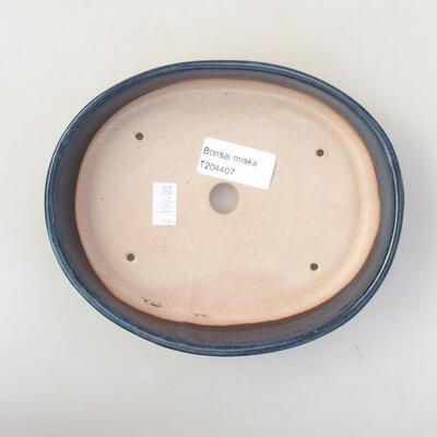 Ceramiczna miska bonsai 17 x 14 x 4 cm, kolor niebieski - 3
