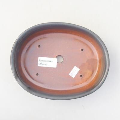 Ceramiczna miska bonsai 18 x 14 x 4,5 cm, kolor szary - 3