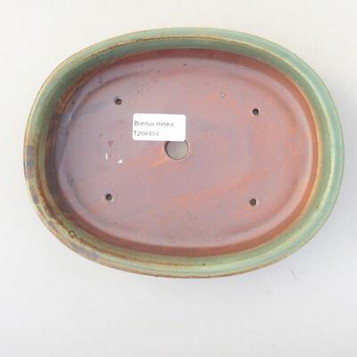 Ceramiczna miska bonsai 21 x 16,5 x 4,5 cm, kolor brązowo-zielony - 3