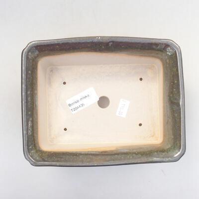 Ceramiczna miska bonsai 17,5 x 14 x 6,5 cm, kolor zielony - 3