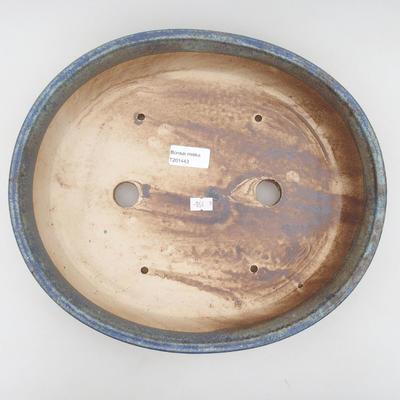 Ceramiczne bonsai miski 32 x 27,5 x 7,5 cm, brązowo-niebieskie zabarwienie - 3