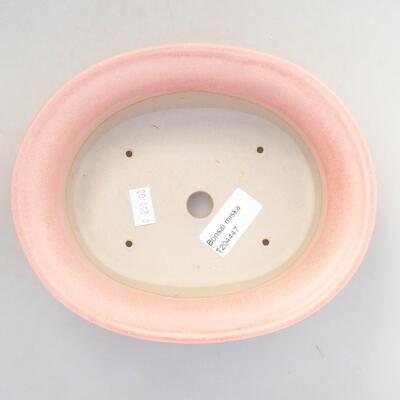 Ceramiczna miska bonsai 21,5 x 17 x 6 cm, kolor różowy - 3