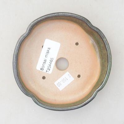 Ceramiczna miska bonsai 10,5 x 10,5 x 2,5 cm, kolor zielony - 3