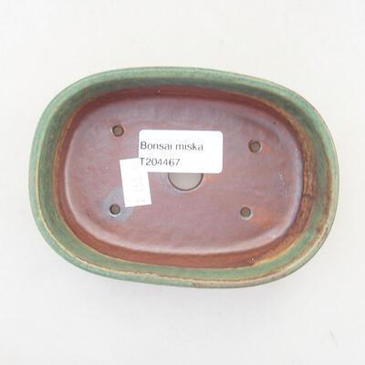 Ceramiczna miska bonsai 12,5 x 9 x 3,5 cm, kolor zielony - 3