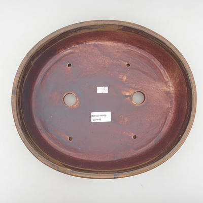 Ceramiczna miska bonsai 32 x 27,5 x 7,5 cm, kolor brązowy - 3