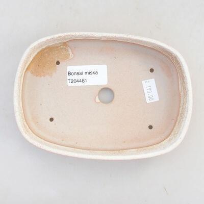 Ceramiczna miska bonsai 15,5 x 10,5 x 3 cm, kolor beżowy - 3