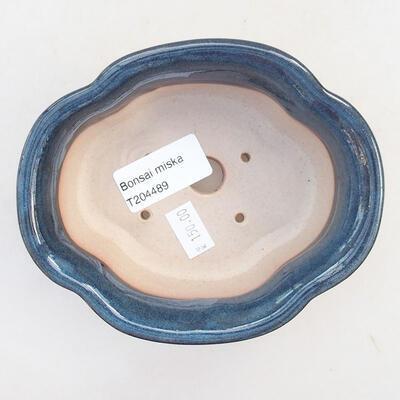 Ceramiczna miska bonsai 13 x 11 x 5,5 cm, kolor niebieski - 3