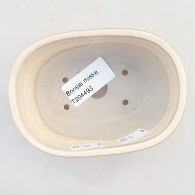 Ceramiczna miska bonsai 11,5 x 8 x 5 cm, kolor beżowy - 3