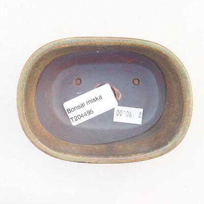 Ceramiczna miska bonsai 11,5 x 8 x 5 cm, kolor zielony - 3